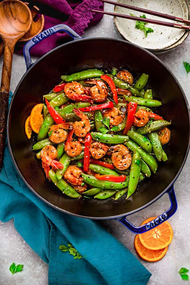 Orange Garlic Shrimp Stir Fry Life Made Sweeter