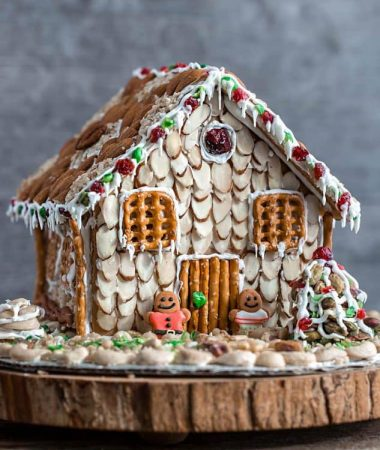 Easy No Bake Gingerbread House with Nuts + Video