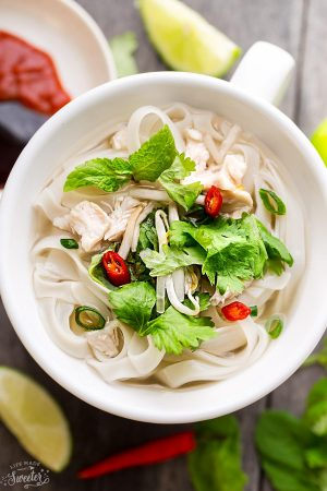 Faux Chicken Pho makes the perfect easy weeknight meal with all the favorite flavors of the classic Vietnamese noodle dish. Best of all, it cooks up in as little as 15 minutes! Plus a step-by-step video.