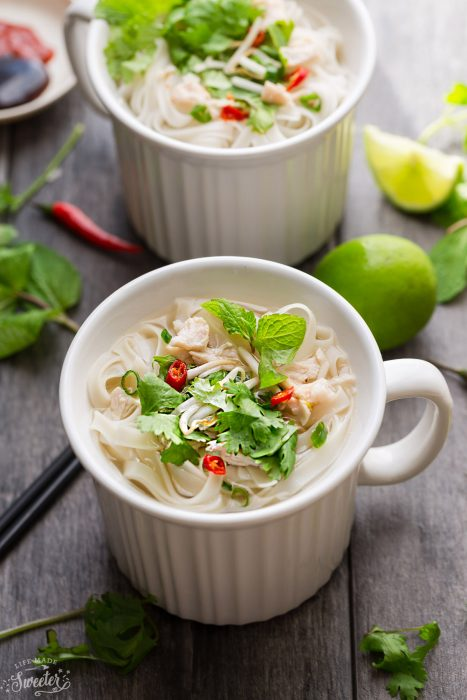 Faux Chicken Pho In A Mug + Video