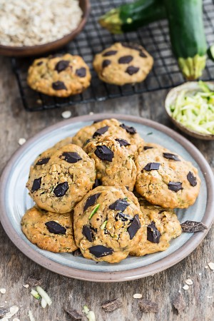 Soft and chewy flourless Zucchini Breakfast Cookies make the perfect healthy breakfast and on-the-go snack! Best of all, they're so easy to make with no mixer required. Gluten free, refined sugar free and no butter!