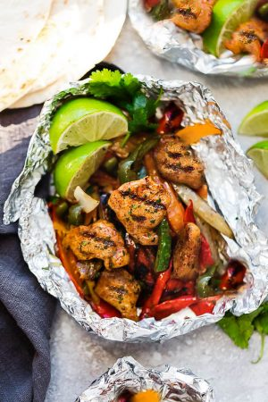 Chicken Fajita Foil Packets