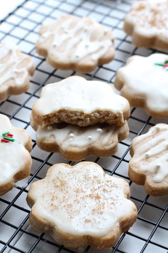 Glazed Eggnog Shortbread cookies are the perfect treat for the holidays.