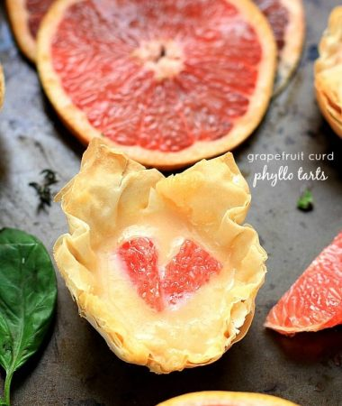 Grapefruit Curd Phyllo Tarts by @LifeMadeSweeter
