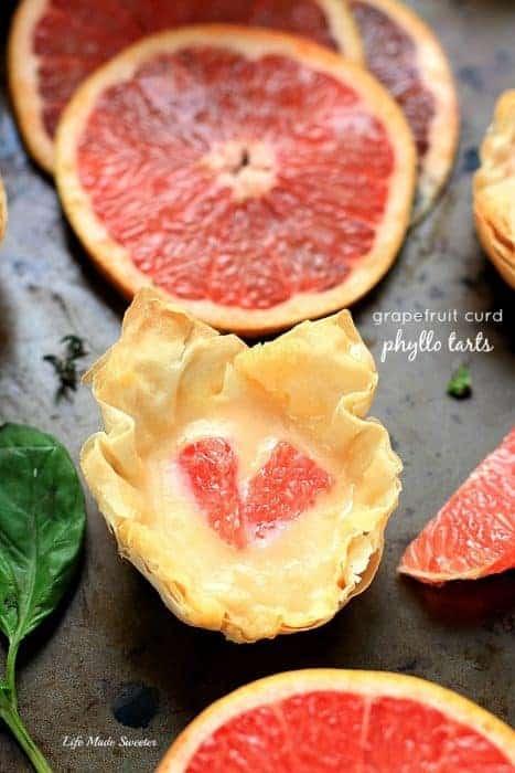 Grapefruit Curd Phyllo Tarts
