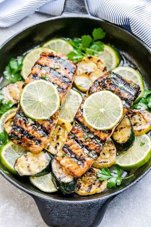 Honey Lime Salmon (Grilled or Oven Roasted)