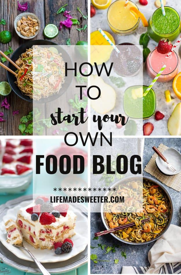 How to Start Your Own Food Blog with a step-by-step guide with SEO tips, social media, photography and how to start making money to make this into a full-time gig.