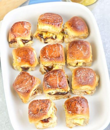 Hawaiian Chicken Sliders + VIDEO