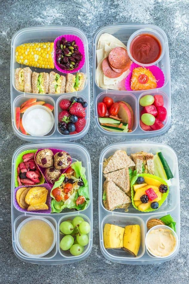 8 Healthy and Delicous Lunches for Back To School. Tons of ideas with  options for