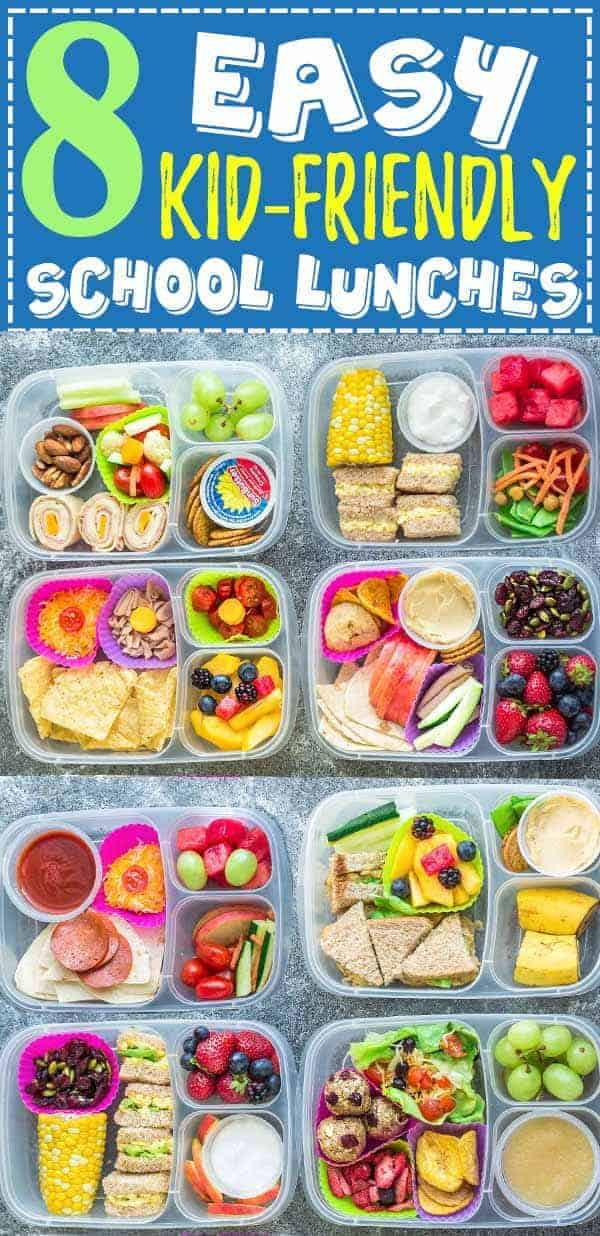 8 Healthy Easy School Lunches Kid Friendly Lunch Ideas