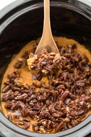 Paleo Slow Cooker Sweet Potato Casserole