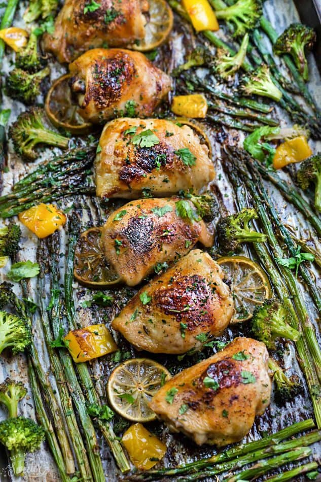 Best Part Of All Can Be Made With Lemon In Just One Sheet Pan And Full Of Tender Asparagus And Broccoli Plus Recipe Video