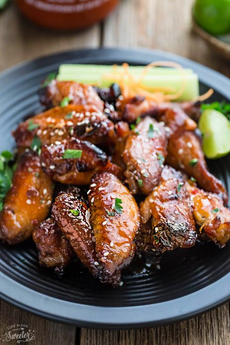 Honey Lime Sriracha Chicken Wings