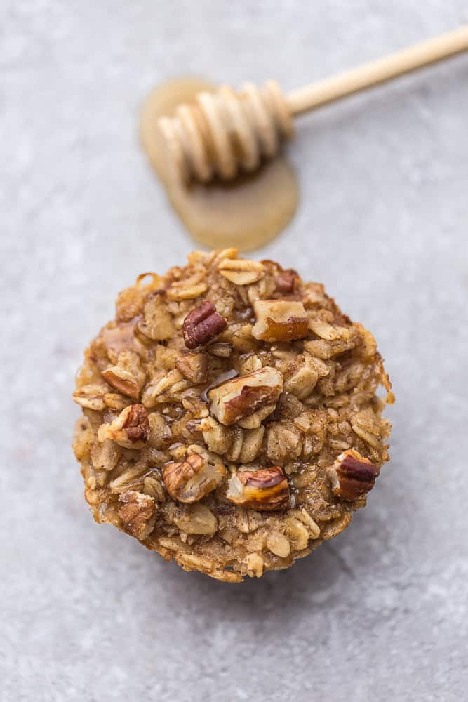 Honey Nut Baked Oatmeal Cups