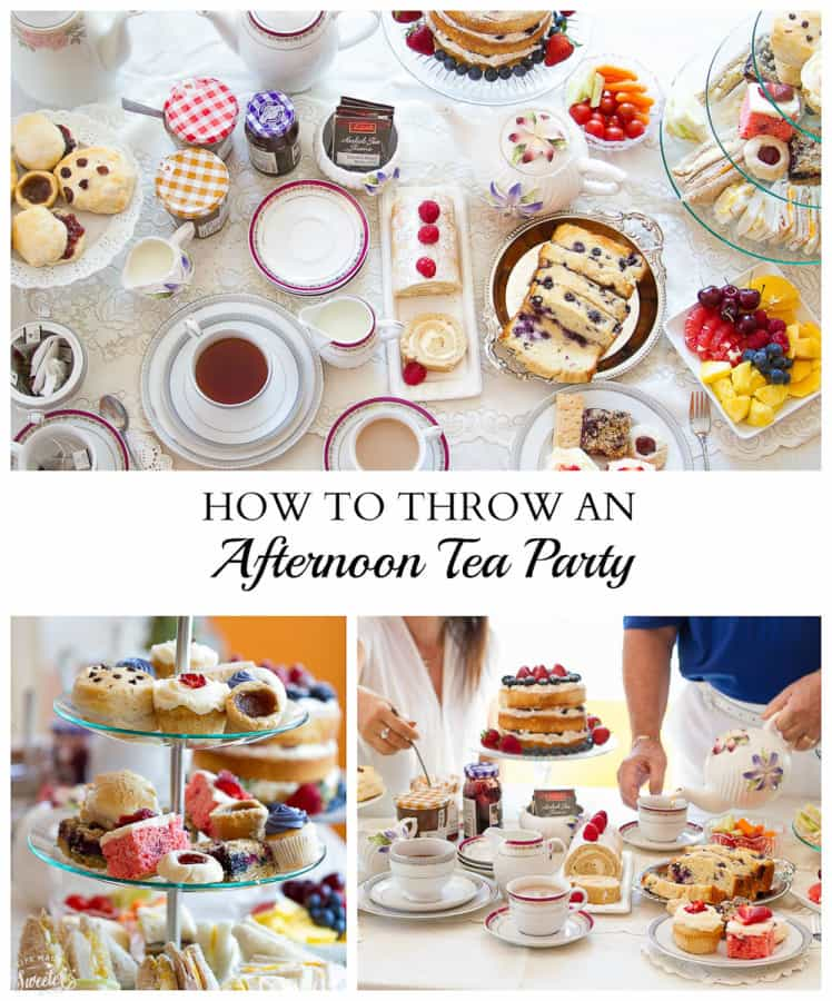 How to Throw An Afternoon Tea Party - tips and recipes for throwing the perfect afternoon tea party.