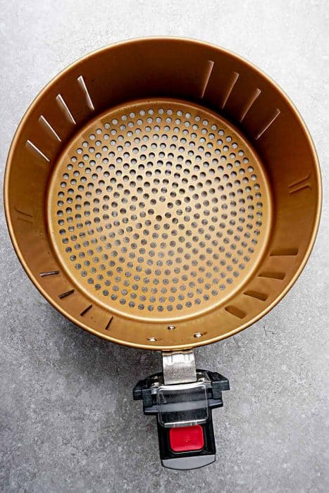 Top view of the basket for Power Air Fryer XL