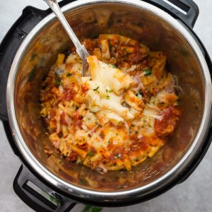 Instant Pot Baked Pasta - the perfect comforting dish for busy weeknights. Best of all, everything is made completely in the pressure cooker - even the pasta.