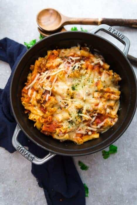 Instant Pot Baked Ziti (plus Stovetop)