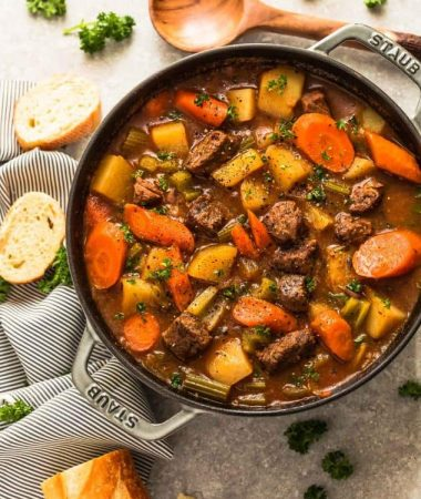 Instant Pot Beef Stew (One Pot Pressure Cooker) + VIDEO