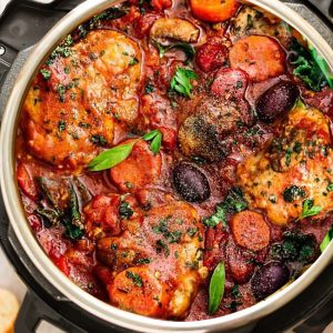 Instant Pot Chicken Cacciatore Easy Paleo Keto Chicken Recipe