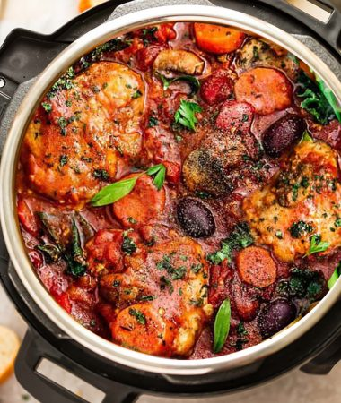 Instant Pot Chicken Cacciatore – Paleo, Keto, Low Carb