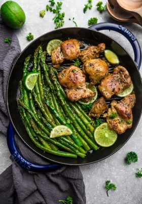 Top view of Instant Pot Cilantro Lime Chicken in a skillet