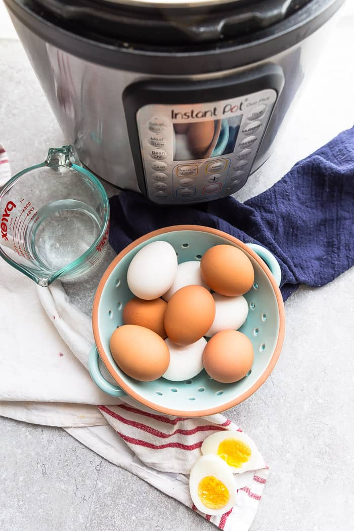 Perfect Hard or Soft Boiled Eggs made in your instant pot pressure cooker or stovetop. Best of all, they are so easy to peel! A healthy paleo, whole 30 and ketogenic option for breakfast, salads, sandwiches, deviled eggs, an after or pre workout snack and Easter eggs.