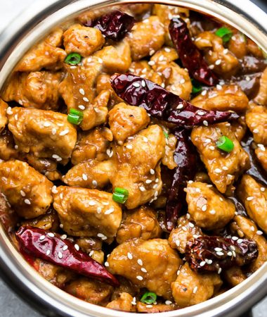 Instant Pot General Tso's Chicken  – Keto, Low Carb, Paleo