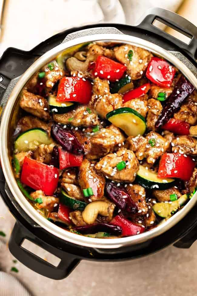Instant Pot Kung Pao Chicken Low Carb Keto Paleo Life Made Sweeter