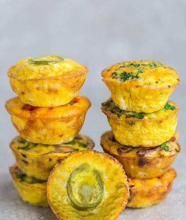 Jalapeño Popper Egg Muffins – Low Carb / Keto