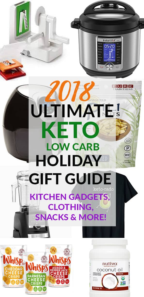 2018 Ultimate Keto Low Carb Holiday Gift Guide collage