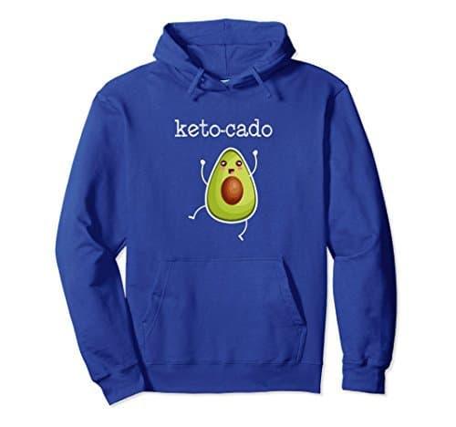 Blue Keto-cado hooded sweatshirt