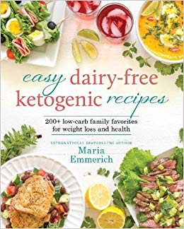 Easy Dairy-Free Ketogenic Recipes cookbook cover