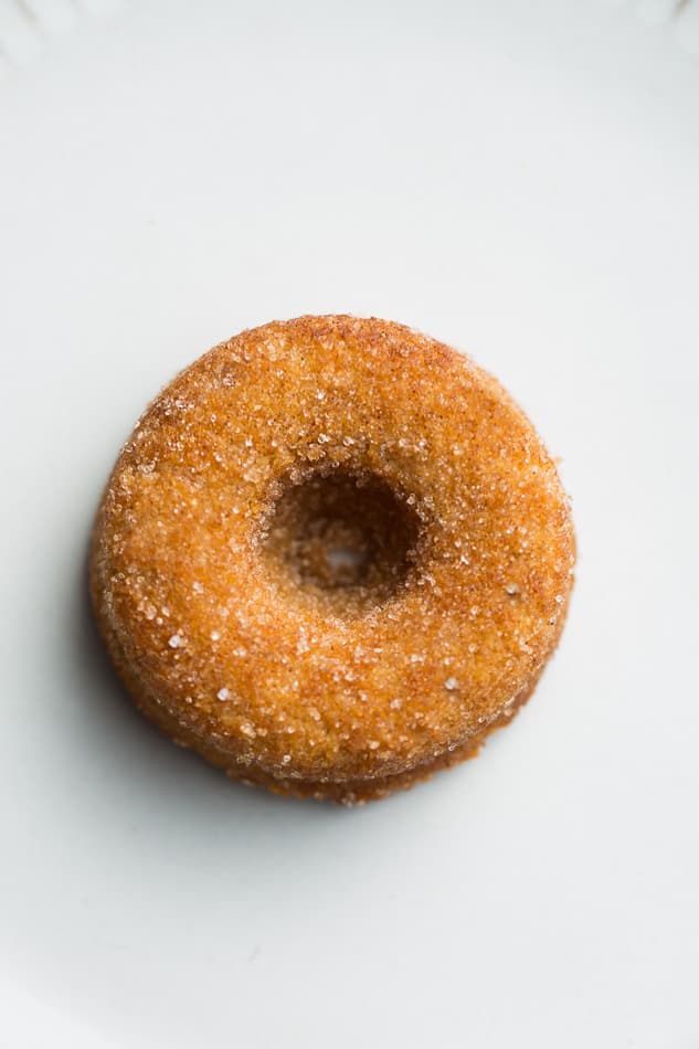 Top view of a single Keto Pumpkin Donut