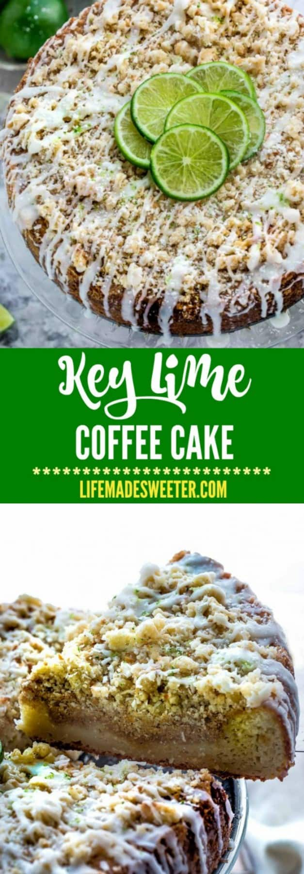 Key Lime Coffee Cake makes the perfect breakfast or afternoon treat