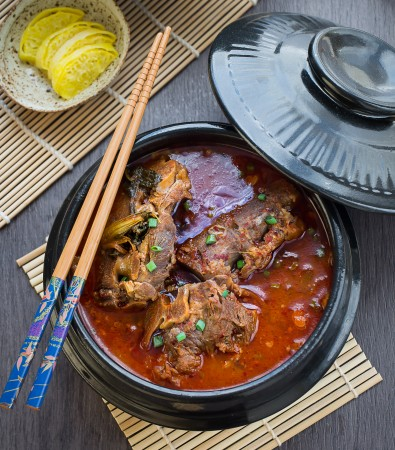 Korean Pork Bone Soup (Gamjatang) makes the perfect comforting meal on a chilly day!