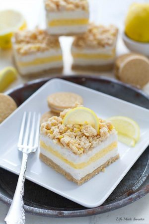 Lemon Cream Pie Ice Cream Bars are the perfect easy frozen treat with only 5 ingredients made with all your favorite flavors of the classic pie