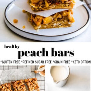 Pinterest collage for peach bars.