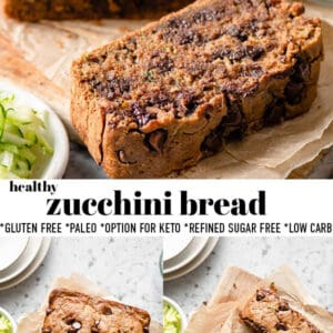 Pinterest collage for zucchini bread.