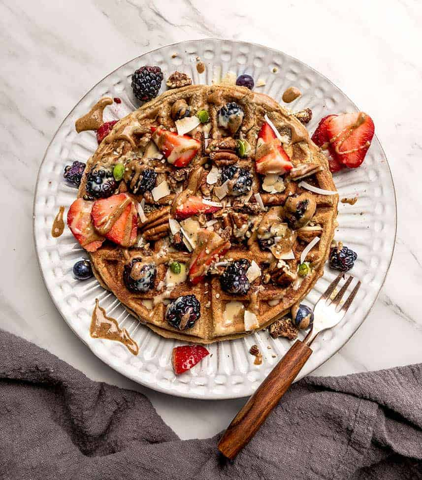 paleo waffles made from pantry ingredients