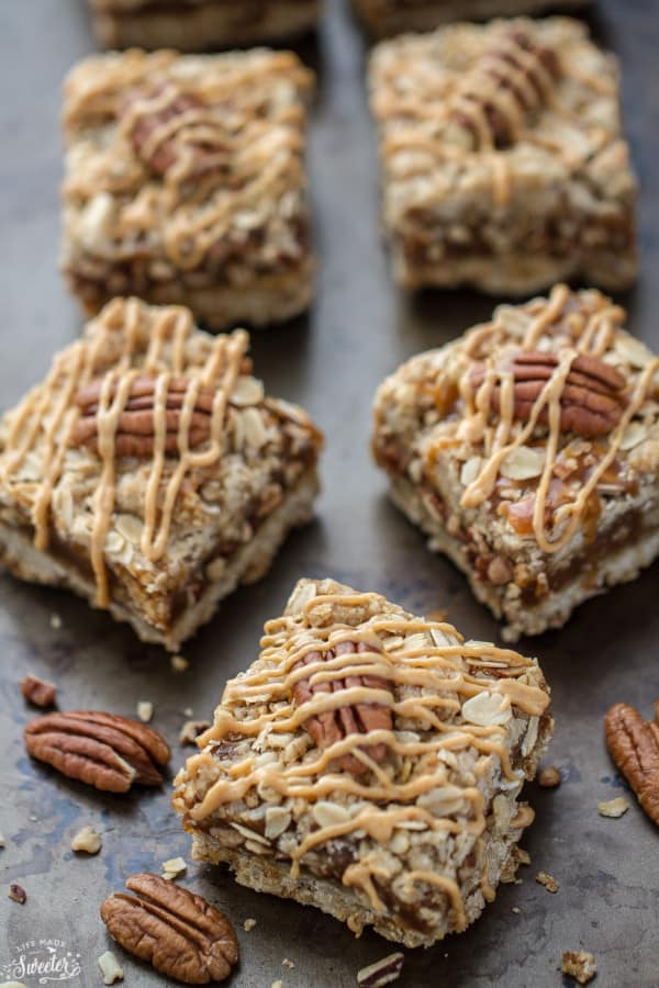 Maple Peanut Butter Oatmeal Bars make the perfect healthy fall treat.