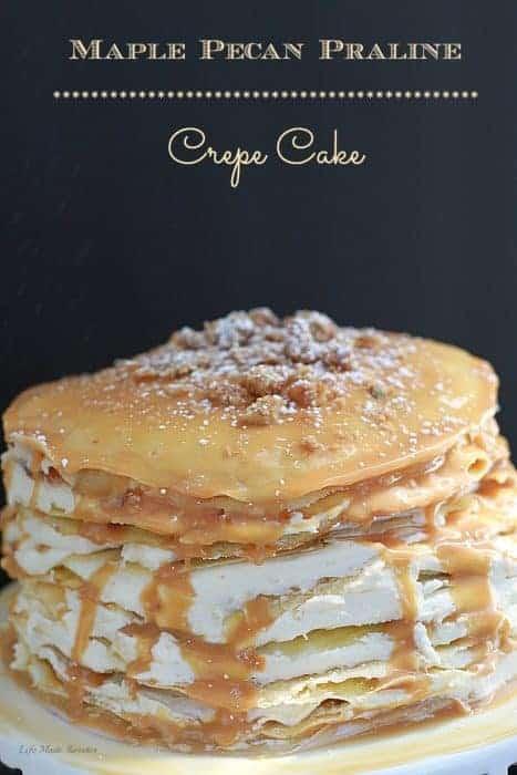 Maple Pecan Praline Crepe Cake