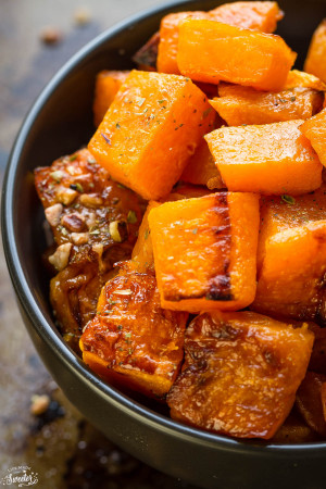 Maple Pecan Roasted Butternut Squash make the perfect easy side dish