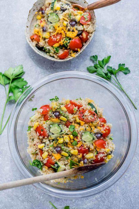 Mexican Quinoa Salad with Corn & Zucchini