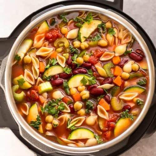 Instant Pot Minestrone Soup Tasty Easy Minestrone Soup Recipe