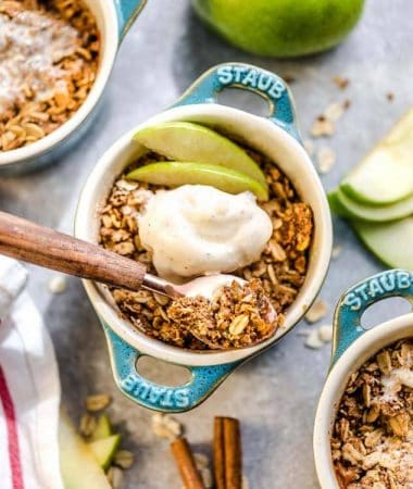 individual servings of Apple Crisp with oat streusel