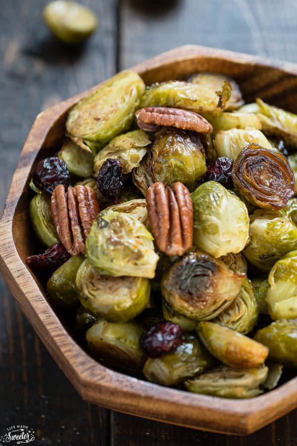 Miso Glazed Brussels Sprouts make an easy & delicious side dish