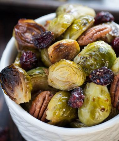 Miso Glazed Brussels Sprouts Recipe With Cranberries