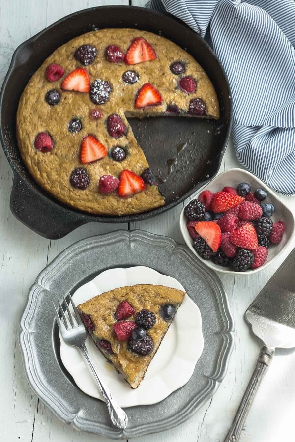 Mixed Berry Paleo Coconut Flour Pancakes are the perfect healthy weekend breakfast..