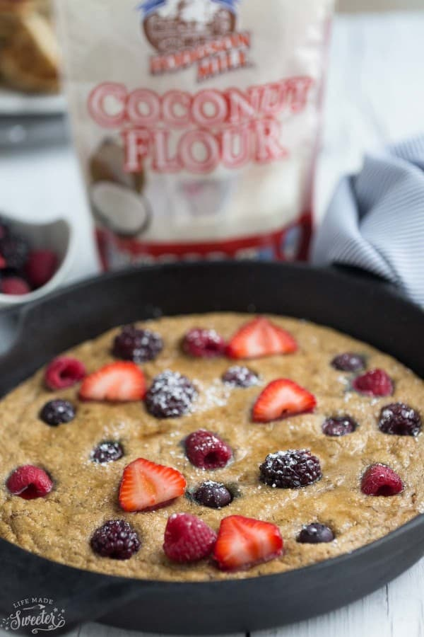 Mixed Berry Paleo Coconut Flour Pancakes are the perfect healthy weekend breakfast